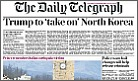 NKorea-Telegraph front page