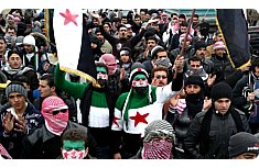 Syrians protest near Damascus on March 2, 2012.jpg
