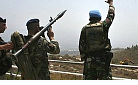 UNIFIL soldier waves