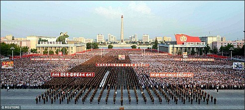 N Korea-mass rally