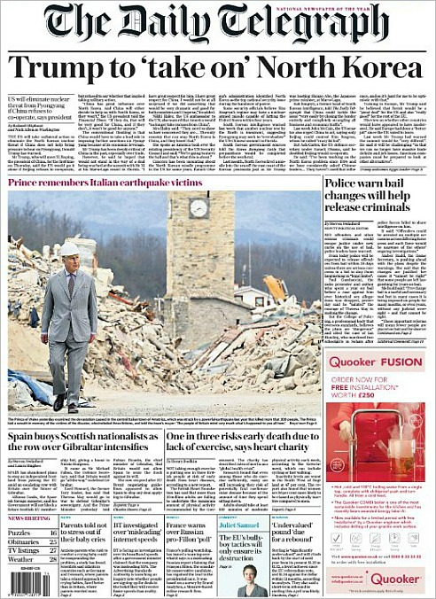 NKorea-Telegraph front page.jpg