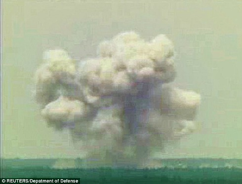 MOAB bomb-first practical test