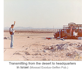 Mossad Op Brothers-transmitting from desert