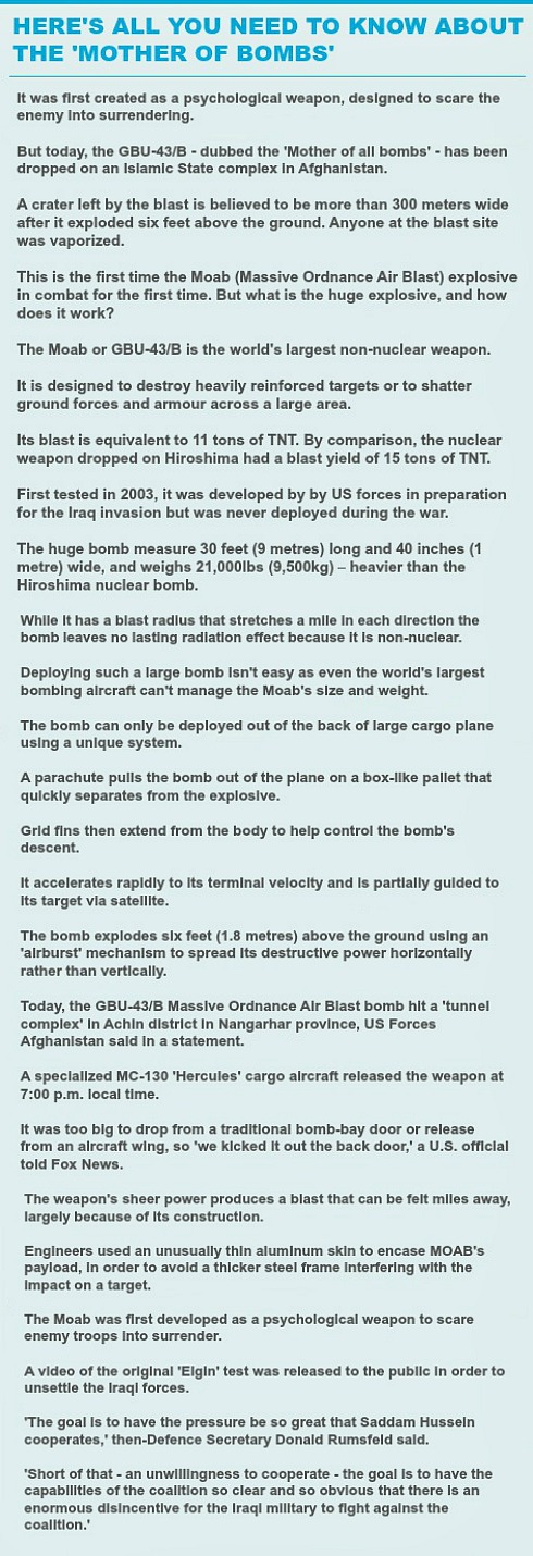 MOAB bomb-need to know