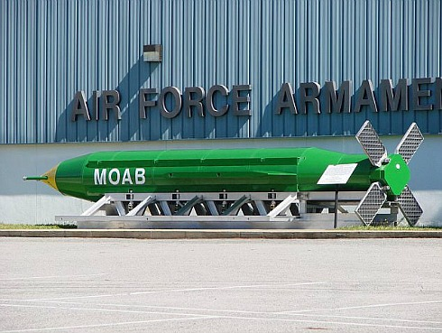 MOAB bomb-military used