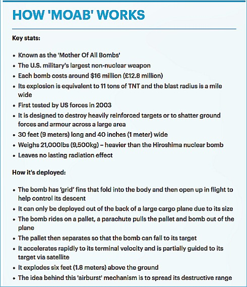 MOAB bomb-how it works